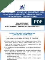4. Sosialiasi Penilaian Capaian Unit Kerja Berbasis Simonev Permen 312016 Yogyakarta