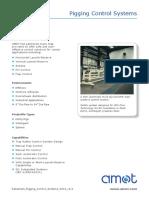 Datasheet Pigging Control Systems 0212 Rev1