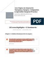 Notes from %22Core Topics in General & Emergency Surgery