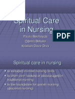 Nursing role in spiritual care