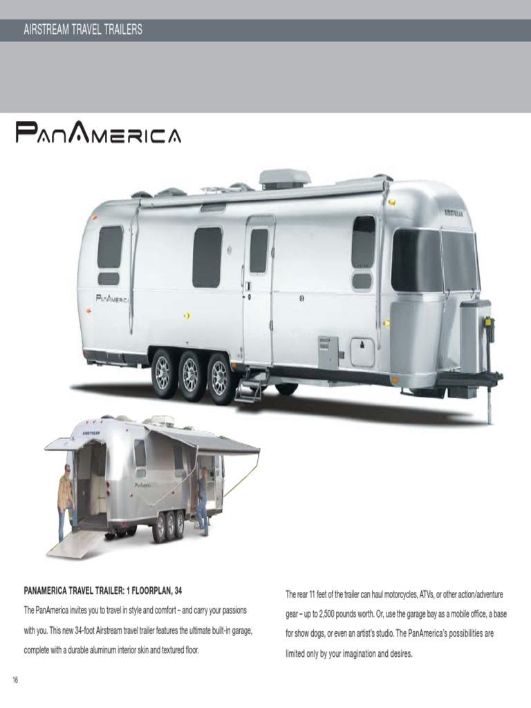 10 Airstream Panamerica Brochure Trailer Vehicle Air Conditioning