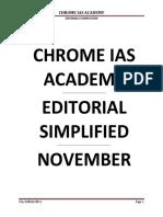 11 November Editorials