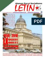 Boletin de enero de 2018 del Ateneo Paz y Socialismo