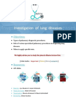 Investigations of Lung Diseases