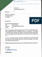 Surat Pengajuan Pemasangan Air Pam