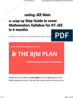 A Step by Step Guide to Cover Mathematics Syllabus for IIT-JEE in 6 Months - Busting JEE Main