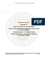 (1) Electric Field and Calculation of Electric Field for Various Systems