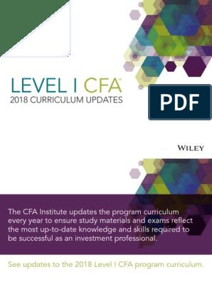 Cfa Level 1 2018 Pdf