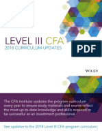 CFA Level3 2018 Curriculum Updates