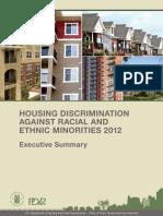 Housing and Urban Development Housing Discrimination 2013 Asian Blacks Hispanics
