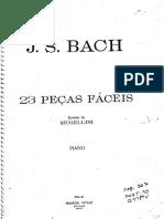 23 Peças Fáceis - J.S. Bach