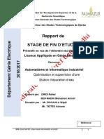 API s71200 Automatism Pfe Station d'Epuration