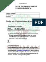 Formulario de Inscripción Curso de Peluqueria Elemental i