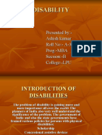 Intro Duct Ti On of Disabilities