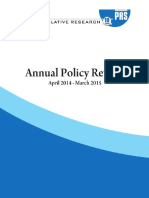 Annual Policy Review APRIL 2014-15