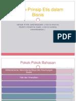 Prinsip-Prinsip Etis Dalam Bisnis
