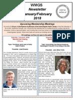 WMGS Newsletter January/February 2018
