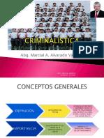 CURSO DE CRIMINALISTICA UTEA (ABG. MARCIAL ALVARADO VASQUEZ)