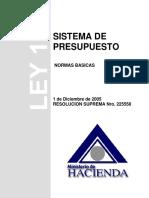 Ministerio de Hacienda Sistema de Presupuesto