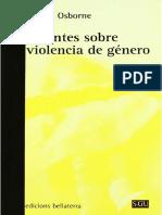 Apuntes Sobre La Violencia de Género - Raquel Osborne