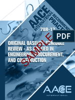 Original baseline schedule review