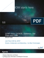 CCNP Voice CVOICE - Gateways, Dial Plans and CUBE
