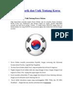 Fakta Menarik Dan Unik Tentang Korea Selatan