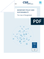 Monetary Policy and Sustainability the Case of Bangladesh