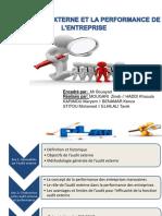 Audit Externe Et Performance de l'Ese
