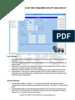 Guia de Usuario Del Programa GPS TRACKER UTILITY (MU-201S1)