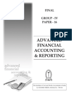 Advanced Financial Accounting & Reporting