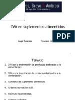 Taller IVA en Suplementos Alimenticios