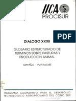 Glosario Estructurado de Términos Sobre Pasturas y Produccion Animal