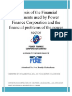 Analysis of the Financial Instruments Used by Power Finance Corporation and the Financial Problems of the Power Sector