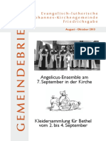 Gemeindebrief August- Oktober 2013