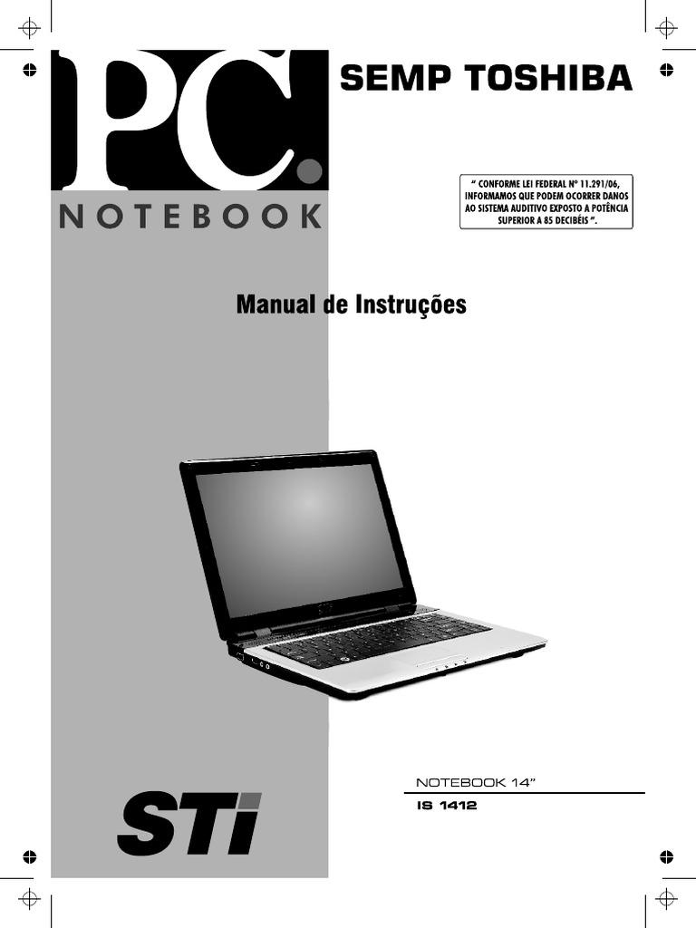 manual notebook 14 sti is1412 pdf rh es scribd com manual notebook semp toshiba is 1412 manual notebook semp toshiba is 1412
