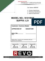 Chimei Innolux N101BGE Datasheet pdf