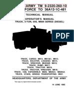 TM9 2320 260 10 M800 Operators Manual