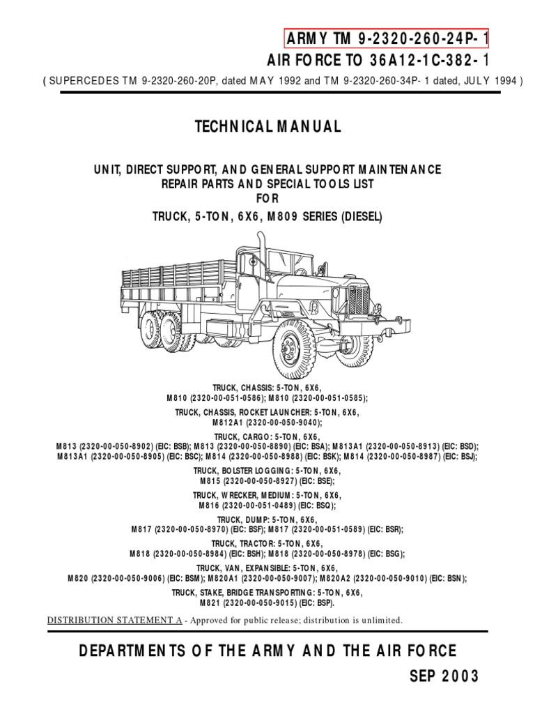 TM260-24P-1 Parts Book 1 | Axle | Steering