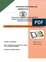 Asistente Para Informes en Access 2013 y El Diseño de Informe