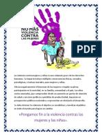 La Violencia Contra Mujeres y Niñas