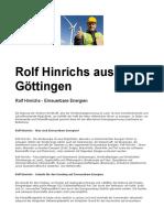 Rolf Hinrichs Aus Göttingen