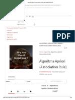 Algoritma Apriori (Association Rule)