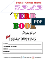 Cover My Verb Book Crimes Booklet Pupils Copy