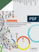 Encuesta Nacional de Opinión sobre Tecnologías de Información y Comunicación