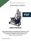 WFJ Super Powder Grinder Manual