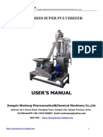 WFJ Super Powder Grinder Manual