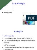 Tema 1. Introducción a La Ecotoxicología