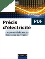 Précis d'électricité - L'essentiel du cours & exercices corrigés