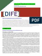 Diccionario Iberoamericano de Filosofía de La Eduvcación 2016 15p